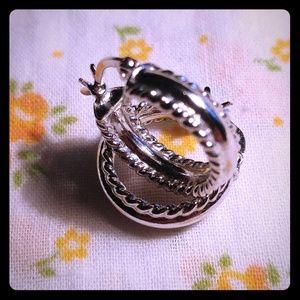 Jewelry - Small sterling hoop earrings